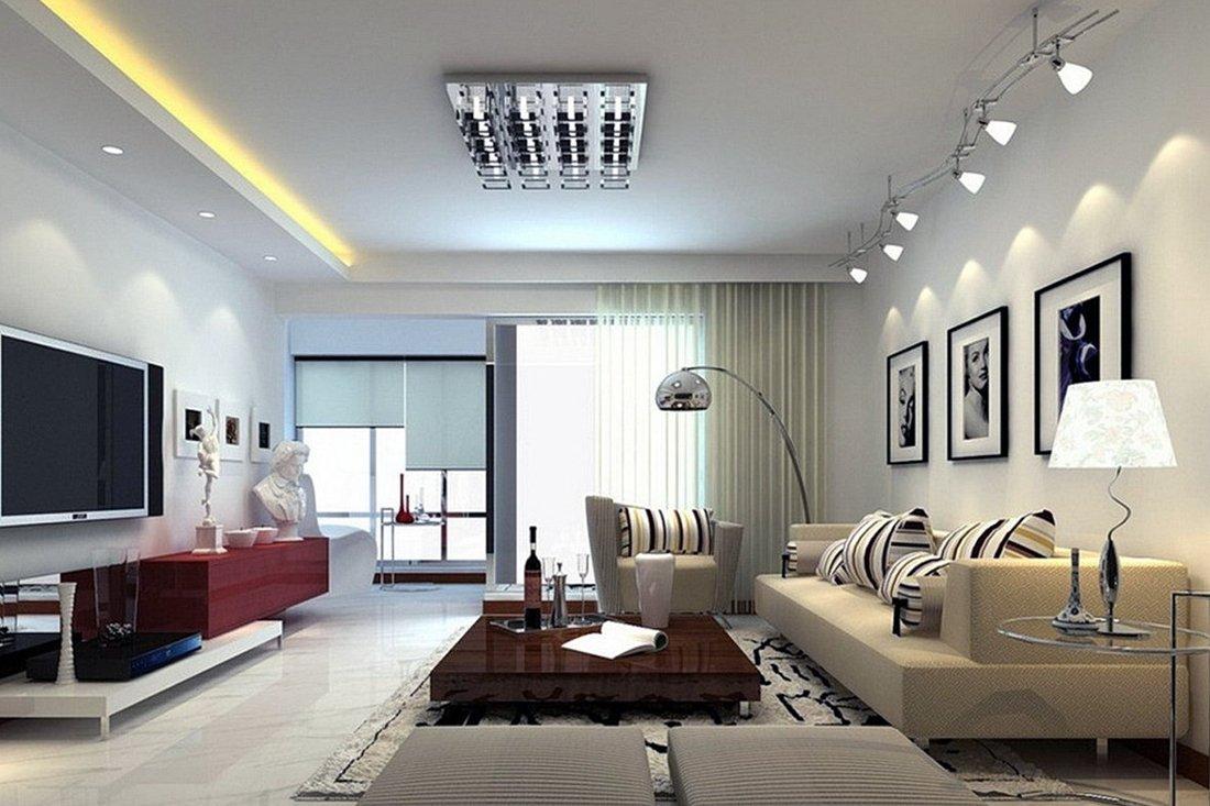 Дополнительные источники света в гостиной