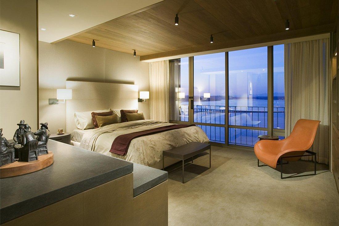 Освещение спальни с низким потолком